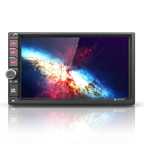 Android 7 Car Stereo Radio - Corehan 7' inch Double Din in Dash Car Video Player Navigator with Bluetooth WiFi GPS Navigation System
