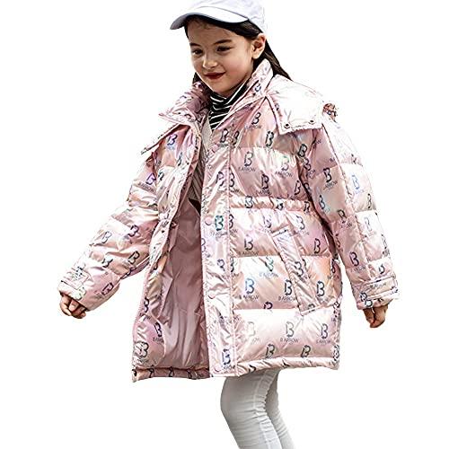 Flojo abrigo de los niños cálidos en invierno, a prueba de viento a prueba de viento con espesas a media longitud de estilo occidental cómodo en invierno suave grueso cálido esponjoso lindo, blanco, b