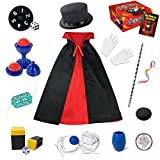 Magic Kit for Kids - Magic Tricks Games for Girls & Boys, Magician Pretend to Play Dress Up Set with Magic Wand & More...