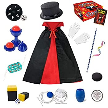 Heyzeibo Magic Kit for Kids - Magic Tricks Games Toy for Girls & Boys Magician Pretend Play Dress Up Set with Magic Wand & More Magic Tricks Instruction Manual for Beginners Toddlers