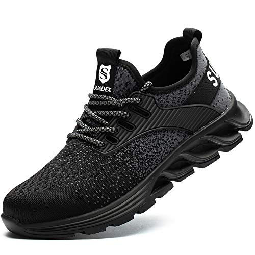 [JACKS HIBO] 安全靴 ブラック あんぜん靴 メンズ レディース作業靴 通気性 鋼先芯 セーフティーシューズ 耐摩耗 工事現場 防刺 耐滑 ワークシューズ安全靴