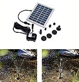POWERADD Bomba de Agua Solar 17V/10W, Funtes de Energía Solar de Decoración de Piscina, Lavabo, Jardín, etc. Pero Agua Clara. con Flujo Máximo...