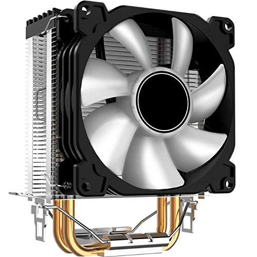 Zjcpow Computadora CPU Cooler Fan CR1200 CPU Cooler 2 HeatPipes Tower RGB 3Pin Ventiladores de refrigeración Disipador de calor Rodamiento hidráulico para Intel y AMD CPU Coolers