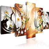 BYSQX 5 Pieces Wall Art Modular DIY Elegant Orchid Flowers Home Kitchen Posters Prints Picture Print On Canvas Canvas Print Modular Painting Poster Wall Stickers Murals Canvas Painting WA 200X100CM