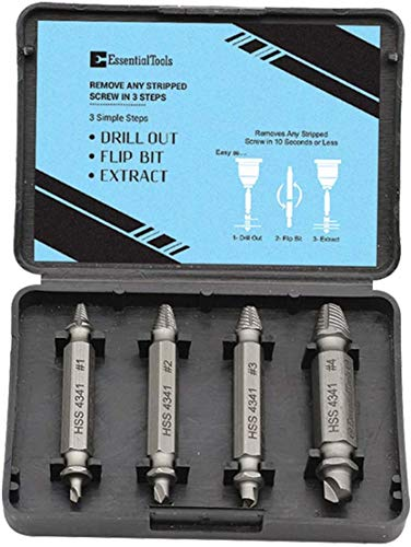Damaged Screw Extractor Kit and Stripped Screw Extractor Set. Its A HassleFree Broken Bolt Extractor and Screw Remover Set