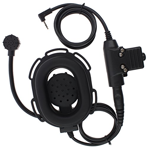 KENMAX Tactical Headset with PTT for 1 Pin Motorola Cobra Two Way Radio(T Shape PTT)