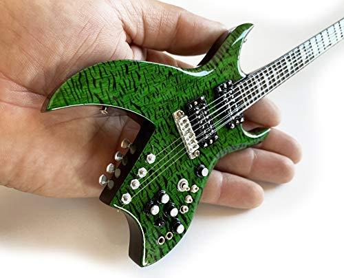 AXE HEAVEN Mini Guitar Guns N Roses Collectible Guitar B.C. Rich Green Bich 1:4 Scale Replica