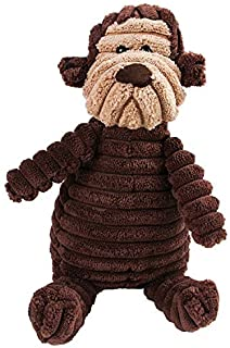 Christmas New Year Dog Gift Toy Dog, Cute Plush Dog Toy, Portable Dog Toys for Indoor Outdoor Pleasant decompression (Colo...