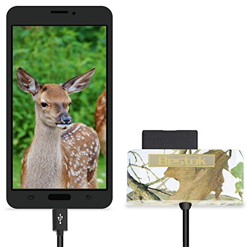 Bestok MicroSD Memory Card Reader Trail Camera Viewer for Android Smartphone Tablets Micro-USB OTG Smart Phone to View Deer Hunting Game Cam Photo & Video No App Needed Connection (NEW600)