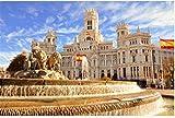 Puzzle 1000 Piezas La Famosa Fuente De Cibeles En Madrid España para Niños Adultos Juguetes Regalo Rompecabezas