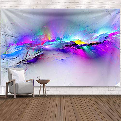 Tapiz de montañas de colores para colgar en la pared, tapiz de ropa de cama, pintura al óleo, manta de playa, decoración de pared para dormitorio, sala de estar, 150x130 cm