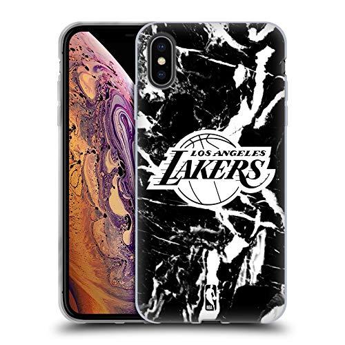 Head Case Designs Licenciado Oficialmente NBA Mármol 2019/20 Los Angeles Lakers Carcasa de Gel de Silicona Compatible con Apple iPhone XS MAX