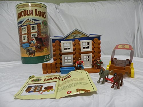 K'NEX Lincoln Logs Stage Coach Station