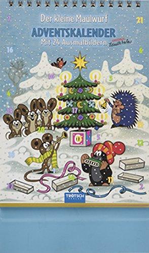 Trötsch Der kleine Maulwurf Adventskalender: Ausmal-Adventskalender: Mit 24 Bildern zum Ausmalen