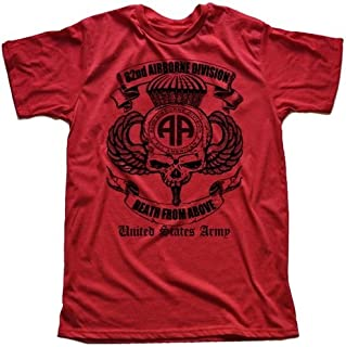 82nd Airborne Division Paratrooper T-Shirt US Army Red