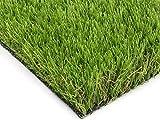 Premium Kunstrasen Kunstrasenteppich Rasenteppich ROSEMARY mit Drainage - 2,00m x 1,00m, Florhöhe 42mm, Fertigrasen für Garten Balkon, UV-Sicherer, Wasserdurchlässiger Balkonrasen, Balkon Bodenbelag