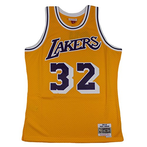 Mitchell & Ness M&N Swingman Jersey Magic Johnson LA Lakers 1984-85 NBA Trikot