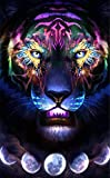 Cuadros En Punto De Cruz Crystal Diamond Cross Stitch 5D Three-Dimensional Diamond Painting Home Wall Decoration Animal Tiger-30 * 45cm