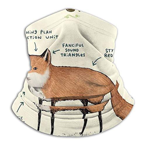 brandless Face Mask Anatomy of A Fox Ski Mask Hat Neck Gaiter Headwear for Women Men