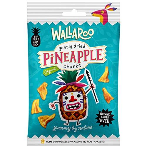 WALLAROO Bio getrocknete Ananas | 100% Bio Ananas | zuckerfrei, schwefelfrei | Multipack 10x30g