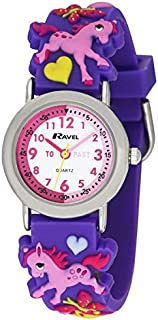 Ravel Children's 3D Pink Pony Time Teacher Watch