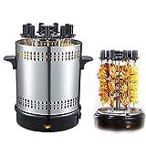 Horno de asador vertical, Barbacoa para el hogar Artifact Máquina de barbacoa sin humo, Máquina de barbacoa eléctrica con botón giratorio de 360 °, Adecuado para barbacoas y picnics familiares
