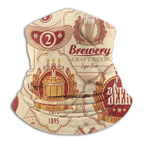 Lzz-Shop met diverse Bier Etiketten Nek Warmer -Hoofddeksels Brede Hoofdbanden Sjaal, Nek Gaiter Hoofdband, Sport Sjaal