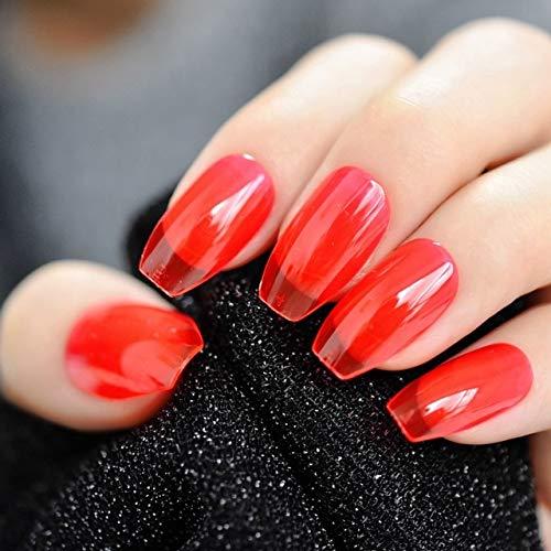 DKHF Valse nagels Lange nagels Transparante doorzichtige nagels Acryl Fake Nail Plastic Druk op nagels