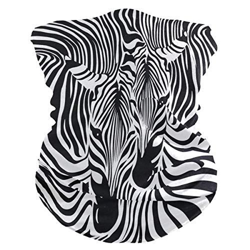 Xiumeimei Zebra Animal Print Bandana Scarf Polaina del Cuello Venda Polvo de pasamontañas Cubiertas bucales...