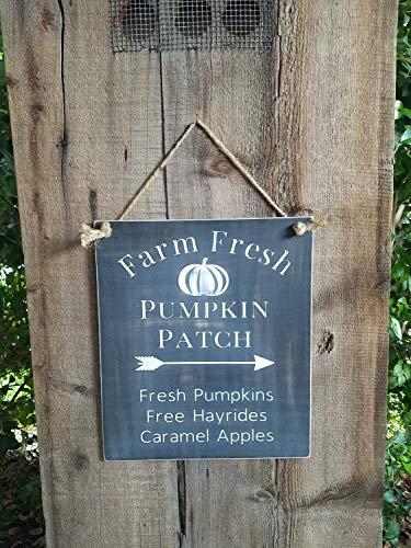 Pumpkin Patch Sign rustic fall sign halloween sign pumpkin wood sign rustic fall decor fall door sign caramel hayride hot cider