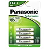 Panasonic Evolta Piles rechargeable AAA 750 mAh Multicolore