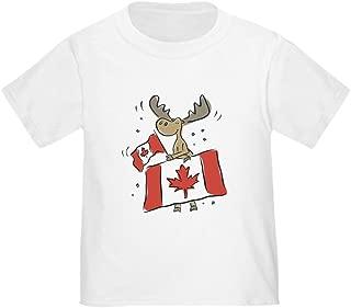 Canada Day Moose Toddler T-Shirt Toddler Tshirt