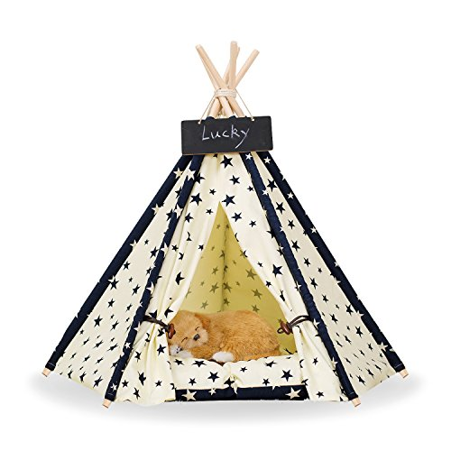 Zaihe Pet Teepee Portable Dog Tent