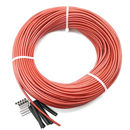 XIOFYA 30m 12K 33ohm in Fibra di Carbonio in Fibra di Carbonio in Fibra di Carbonio Cavo 5V-220V Riscaldamento a Pavimento a Basso costo di Alta qualità Riscaldamento a infrarossi (Taglia : SRAG 30m)