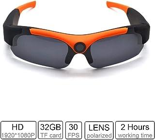 PUKEFNU Gafas de Sol de la cámara espía HD 1080P cámara Auricular Bluetooth Mini Grabador de vídeo de la cámara USB Hidden Cameras Cámara de acción Palo Dash CAM Gafas para la Pesca Deportiva Esquí