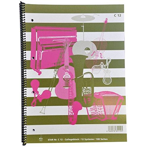 Notenblock Collegeblock A4 100 Seiten