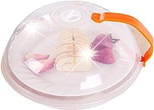 plato de microondas Fellibay Funda para microondas con ventilación para platos de cocina (26 cm) 10.43 * 3.94in naranja
