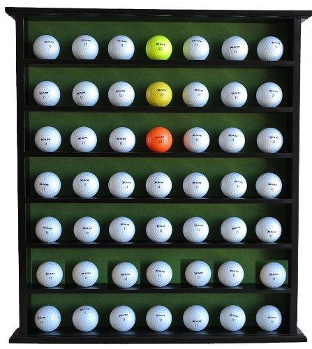 Golf Gift 49-Golf Ball Display Case Cabinet Rack, No Door,
