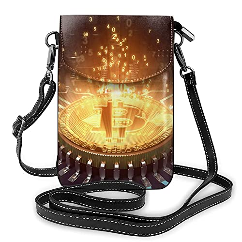 AOOEDM Crossbody-Handy-Geldbörse Computer-Prozessor mit Magic Light Kleine Crossbody-Taschen Frauen Pu-Umhängetasche Handtasche