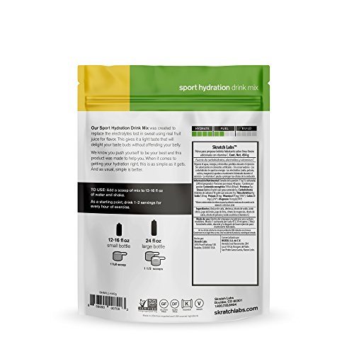 Skratch Labs Exercise Hydration Mix Lemons + Limes Resealable Bag