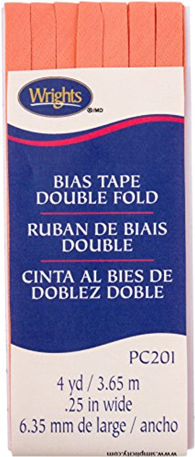 Wrights Coral Double Fold Bias Tape 1/4