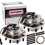 (4WD) Front Wheel Bearing & Hub Assembly Fits 2005-2009 Ford F-250 Super Duty, 2005-2010 Ford F-350 Super Duty Hub Bearing (2 Pack) w/ABS, 8 Lugs 4x4-515082 (Fits Dual Rear Wheels).