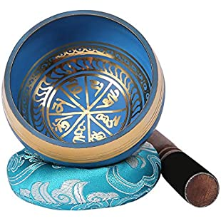 HDE Singing Bowl Handmade Tibetan Cushion Wooden Striker Set for Meditation Yoga Spiritual Healing:Isfreetorrent