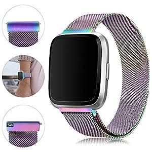 Mliya - Correa de repuesto para reloj Fitbit Versa hecha de malla ...