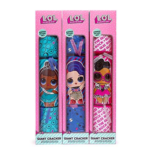 L.O.L. Surprise. Enorme knalbonbons voor Kerstmis, 55 cm, met geschenken, stickers en activiteiten, lol poppen, confetti, pop