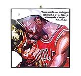 Pop-Art berühmter Basketballspieler Inspiration Zitate [Kobe Bryant] gerahmtes Acryl-Leinwand, Kunstdruck, modernes Wanddeko, 25,4 x 25,4 cm 10 x 10 inch Michael Jordan