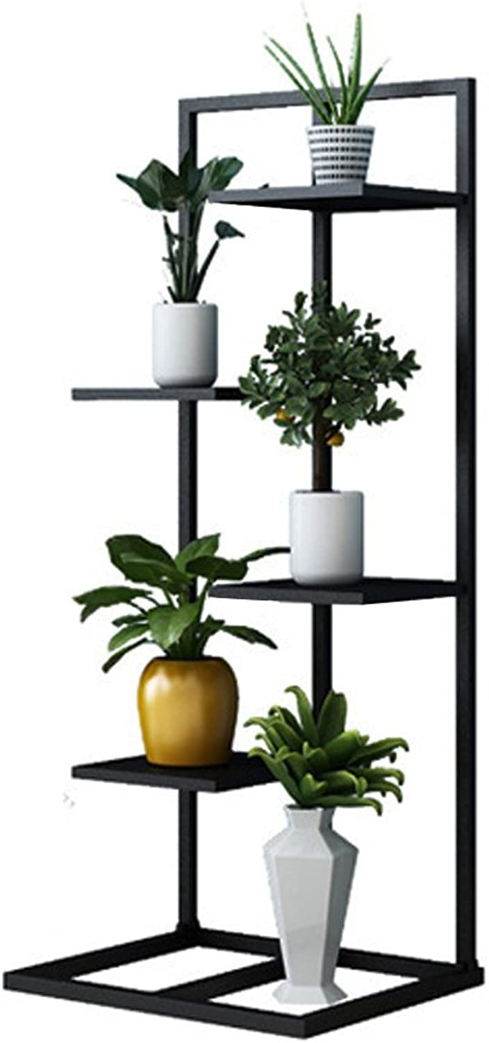 MBD Nordic Iron Art Flower Stand Living Room Multi-Layer Loft Floor-Standing Shelf Balcony Potted Plants Display Stand Holds Plant Pot Rack (Size   40  30  100cm)