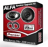Pioneer Altavoces para Alfa Romeo Mito de Puerta Delantera Altavoces para Coche + adaptadores, 240W