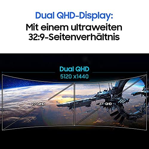 Samsung C49HG90DMR 124,20 cm (49 Zoll) Curved Gaming Monitor (3840 x 1080 Pixel, Ultra Wide 32:9 Format, 144hz, 1ms) mattschwarz