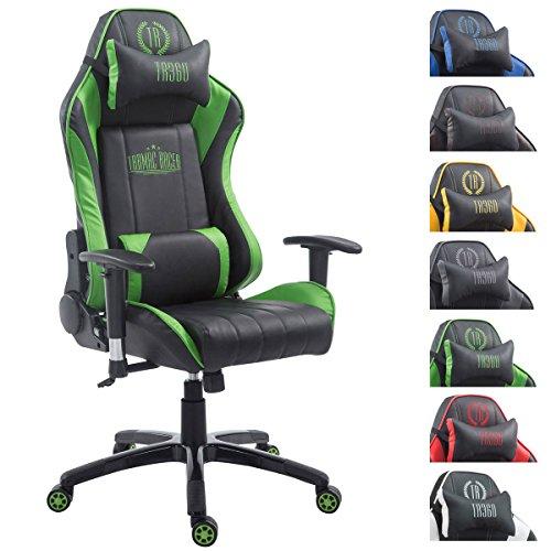 XL Bürostuhl 150 kg belastbar grün Chefsessel Fußstütze Gaming Zockersessel